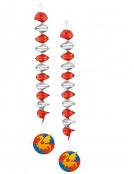 2 hängande dekoration i riddartema 60 cm