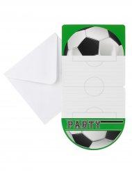6 inbjudningskort till fotbollskalaset 10 x 20 cm