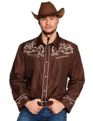Brun cowboyskjorta - Maskeradkläder för vuxna