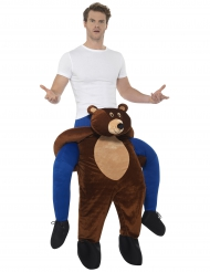 Snubbe som rider på en björn - Carry me-dräkt för vuxna c76309483424b