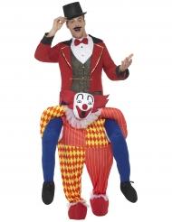 Tricks på en clownrygg - Carry me-dräkt för vuxna
