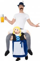 Bärs av servitris - Carry me-dräkt för vuxna