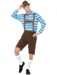 Alpdräkt med Bayerskt mönster - Oktoberfestdräkt för vuxna