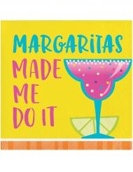 Margaritas made me do it - 16 små servetter 25 x 25 cm