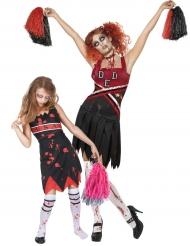Cheerleaderzombie duo - Halloweendräkt för barn och vuxen