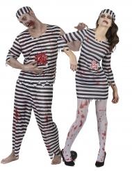 Zombie brottslingar - Halloweenkostym för par