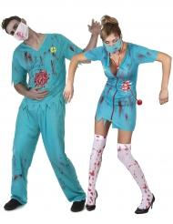 Zombiekirurger - Halloweenkostym för par
