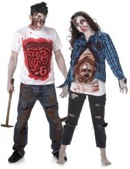Vidrigt zombiepar - Halloweenkostym för par