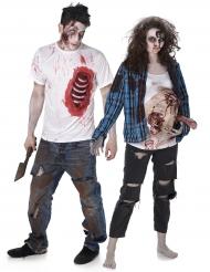 Par i Zombies - Halloweenkostym för par