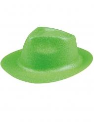 Grön hatt i plast med glitter för vuxna till St. Patrick