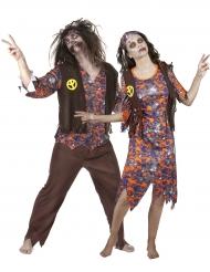 Duo med Hippiezombies - Pardräkt till Halloween