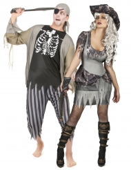 Zombiepirater - Halloweendräkt för par