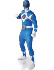 Blå Power Rangers™ Second Skin-dräkt för vuxna
