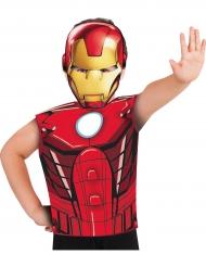 Iron Man™ t-shirt och mask för barn till kalaset
