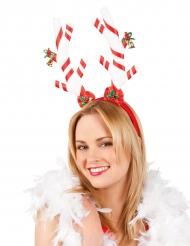 Polkagrishorn på diadem för vuxna till jul