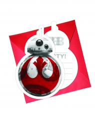 6 inbjudningskort från Star Wars VIII™ The last Jedi