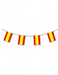 Plastgirland med spanskaflaggan 5m