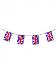 Girland i plast med brittiska flaggan 5m