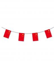 Girland i plast med kinesiska flaggan 5m