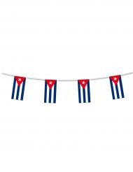 Girland i plast med kubanska flaggan 5m