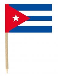 50 cocktail pinnar med kubanska flaggan 3 x 5 cm