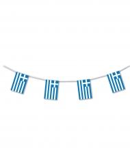 Girland i plast med grekiska flaggan 5m