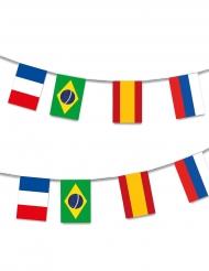 Plastgriland med 32 flaggor