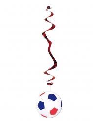 6 mobiler med fotboll i rött och blått