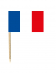 50 franska miniflaggor