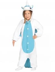 Blå och vit enhörning - Maskeraddräkt för barn