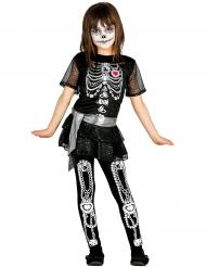 Glänsande skelettdräkt Halloween