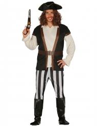 Piratkaptenen Skäggbrand herrdräkt