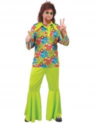 Pigg grön hippie - Maskeradkläder för vuxna