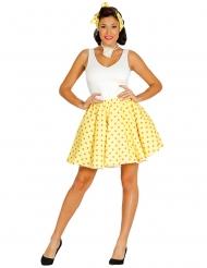 Gul kjol och hårband 50-tal dam