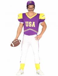 Lila och vit amerikansk fotbollsspelare vuxendräkt