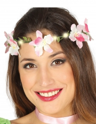 Blomkrans som lyser - Maskeradtillbehör till midsommar