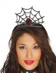 Gotisk tiara med röd rubin - Halloweentillbehör