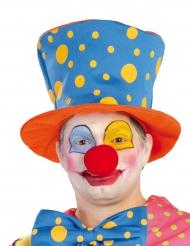 Clownig cylinderhatt för vuxna