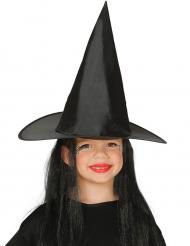 Häxhatt med hår - Halloweenhattar för barn