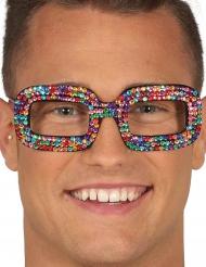 Strassbelädda glasögon i många färger - Maskeradtillbehör