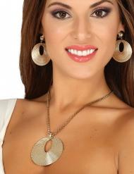 Guldfärgade grekiska smycken dam