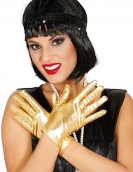 Eleganta guldhandskar i damstorlek