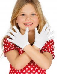 Vita handskar för barn - Tillbehör till temafesten