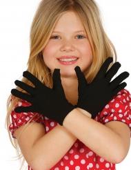 Korta svarta handskar barn