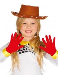 Röda vantar för barn - Maskeradtillbehör