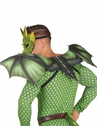 Gröna drakvingar till maskeraden 94 x 36 cm