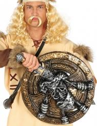 Förfaderns kraft - Vikinga sköld och svärd med skelett 57 cm
