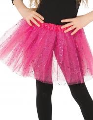 Rosa tyllkjol med glitter - Barnens kalastillbehör