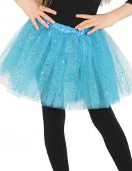 Blå tyllkjol med glitter - Barnens tillbehör till kalaset