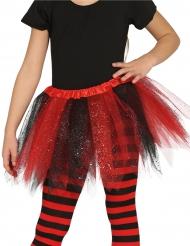 Rödsvart ballerinakjol barn